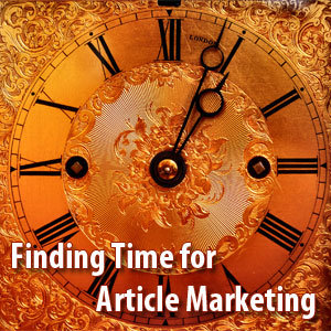 time for article marketing