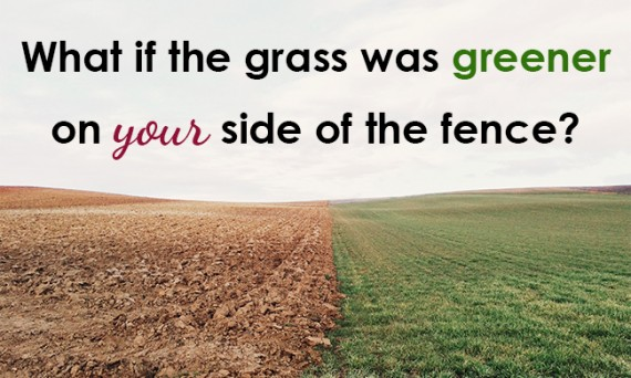 What if the grass was greener on your side of the fence?