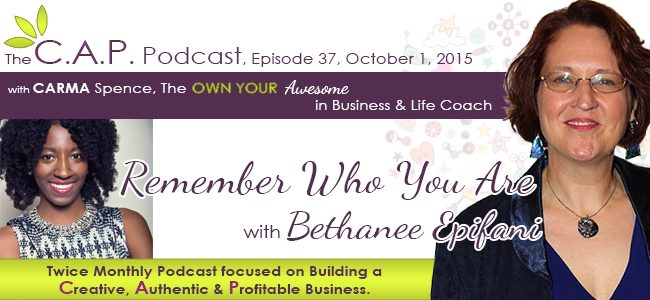 Bethanee Epifani on The CAP Podcast with Carma Spence