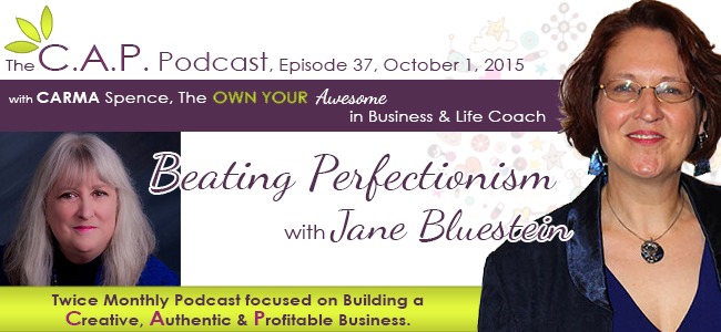 Jane Bluestein on The C.A.P. Podcast with Carms Spence