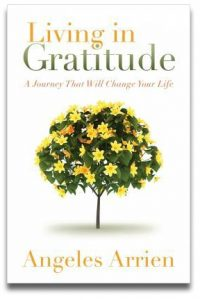 Living in Gratitude by Angeles Arrien book cover