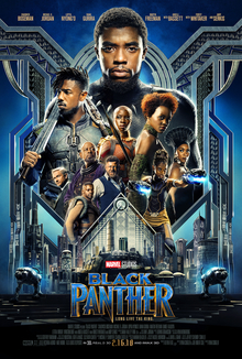 Black Panther movie poster, Marvel