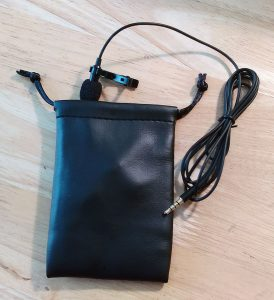 mic and pouch