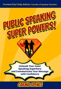 Public Speaking Super Powers cover - flat