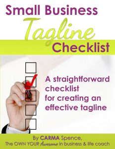 Small Business Tagline Checklist
