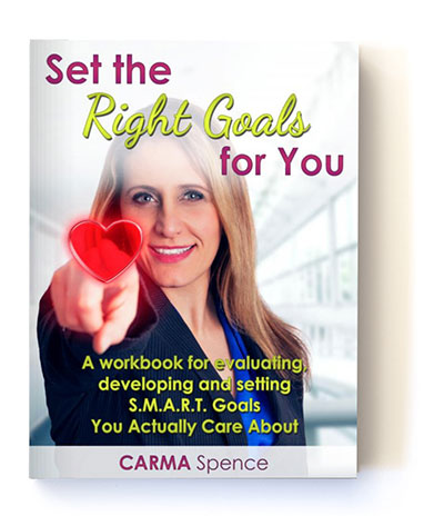 Set the Right Goals for You cover with shadow