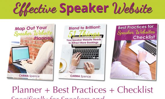 Create Your Effective Speaker Website package image